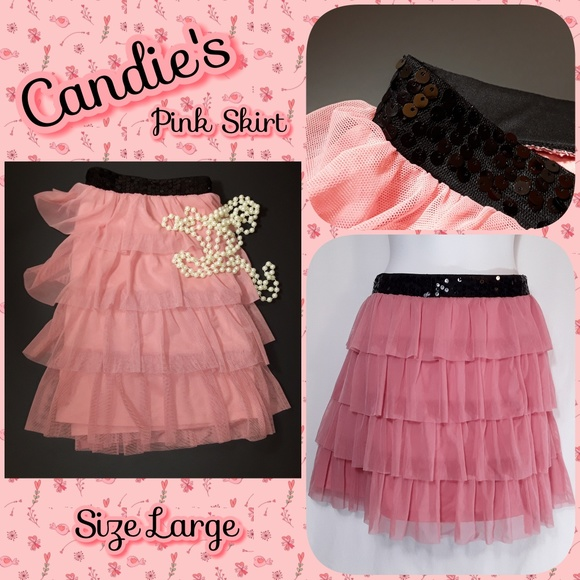 Candie's Dresses & Skirts - AVAIL - Candie's Pink Tulle Sequin Tiered Skirt